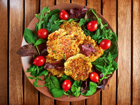 Veggie Patty Salad Recipe
