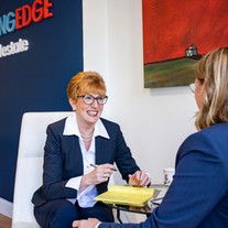 Linda O and Kerry Dowlin meet in our Boston Office