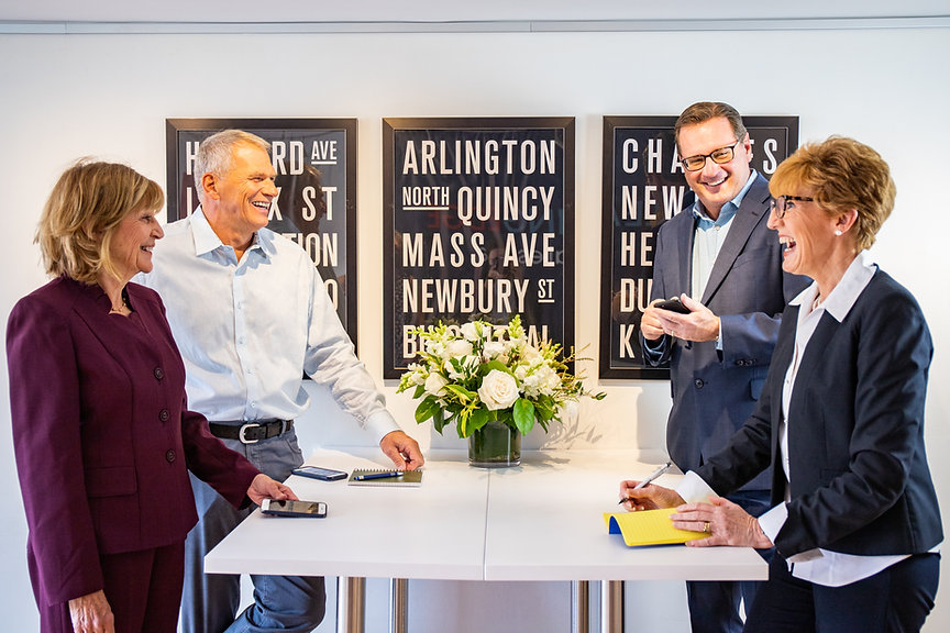 Our Four Broker Owners meet in our Boston Office