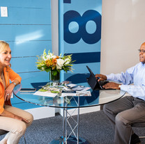 Agents Sharon Coskren and Walter Medley work in the Andover office