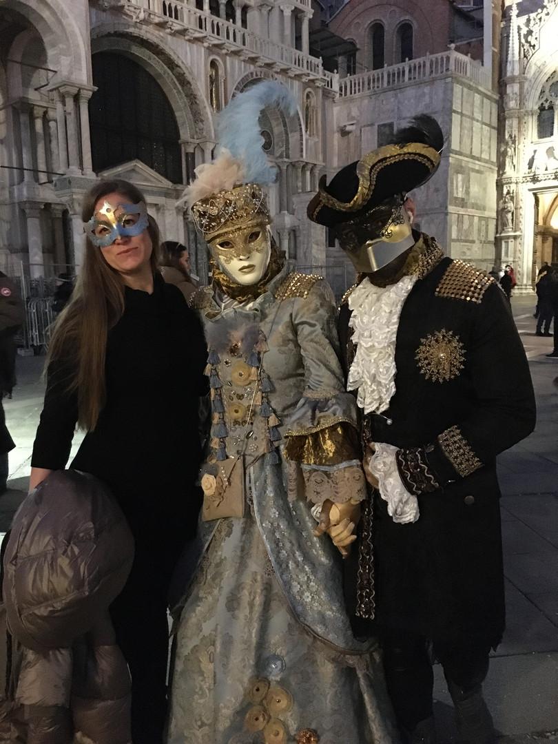 Jennie posing in masquerade