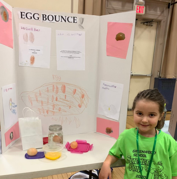 Kristin's daughter at the science fair