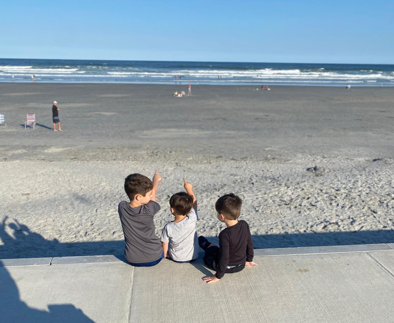 Danielle's sons at the beach