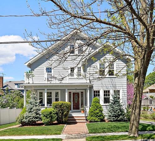 55 Horne Road - Gray House with Wood Door
