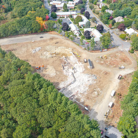 Drone shot of construction site