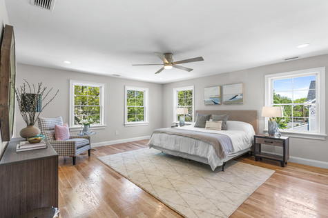 Master bedroom with lots of windows