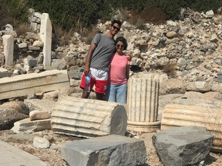 Tanyeli with her son