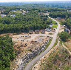 Dront photo of site under construction