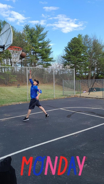 Andrei playing basketball