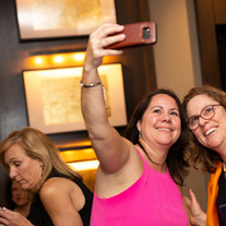 Agents Tamara Schofield and Juliet Jenkins pose for a selfie