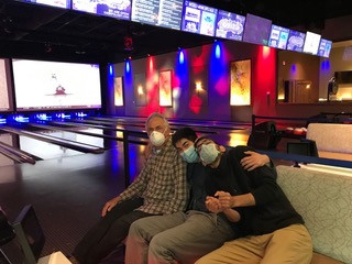 Tanyeli bowling with her family