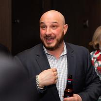 Greg DiGiorgio socializes during a Leading Edge Event