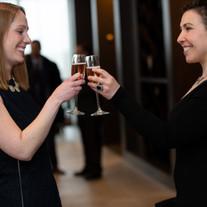 Agents Fayth Kestenbaum and Melissa Abrahams toast to success at our Awards Night