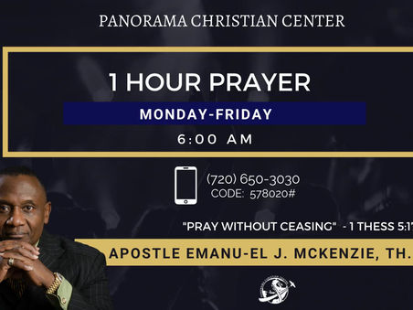 PRAYING, LIVING AND WALKING FROM VISION: Apostle Emanu-el J. McKenzie