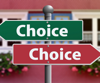 How to choose between two conflicting choices
