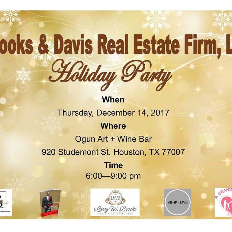 Brooks & Davis Real Estate Firm, LLC Holiday Party