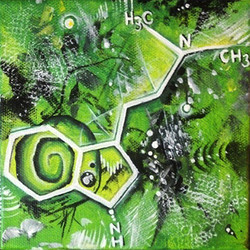 "Dimethyl Triptamine, 2014, 5x5"""