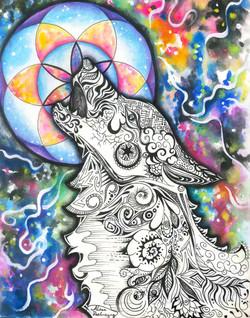 """Genesis Moon, 2014; 11x14"""""""
