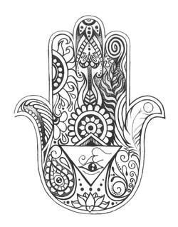 """Hamsa Tattoo, 2014; 11x14"""""""