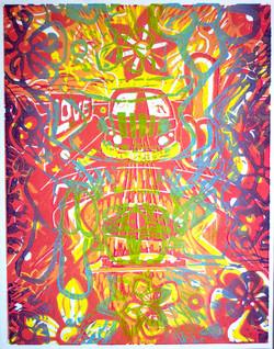 """Hippie Love, 2015; 11x14"""""""
