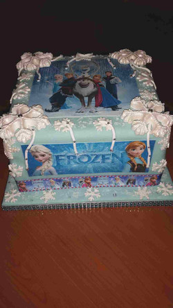 Frozen taart made by Cabolicious