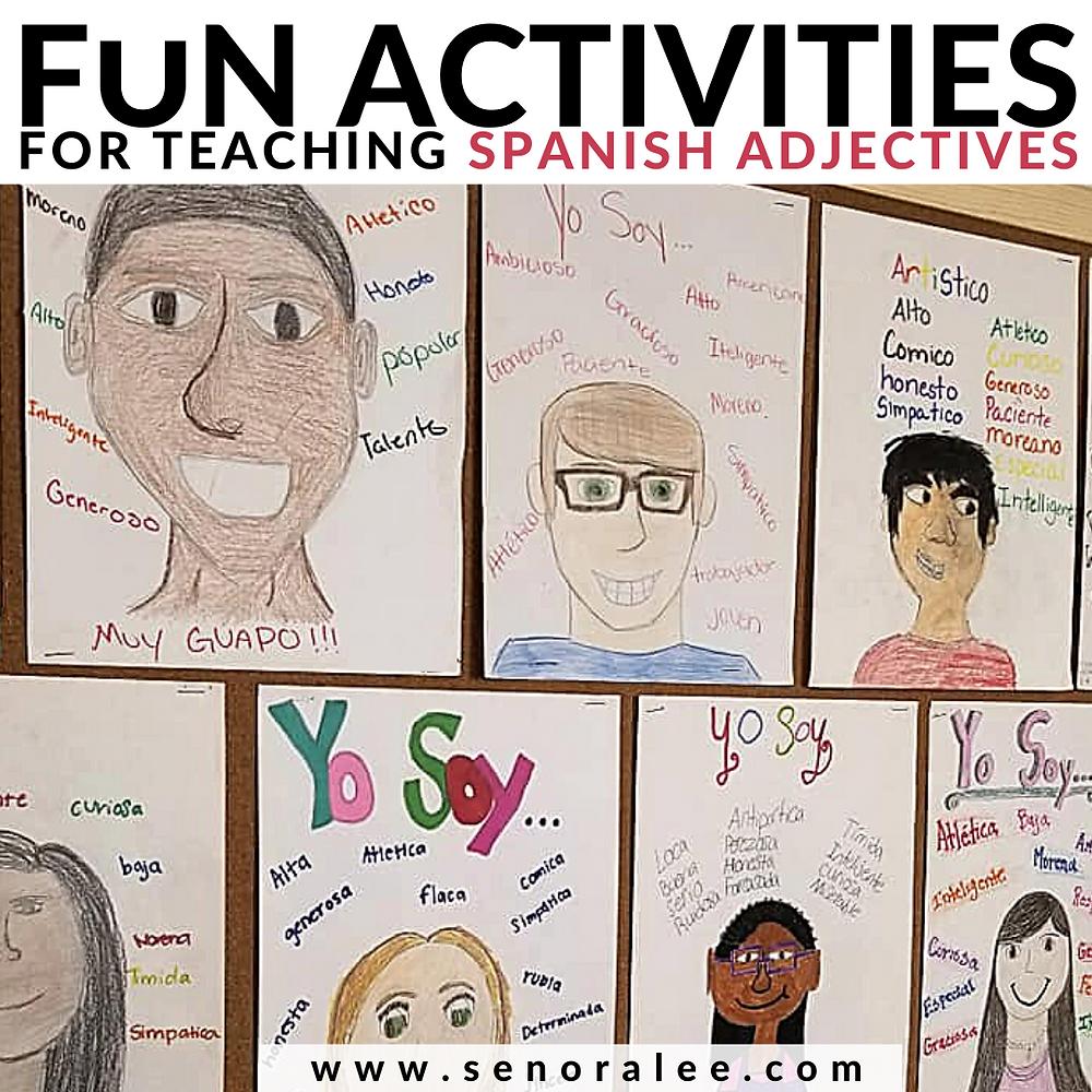 Spanish Adjective Activities