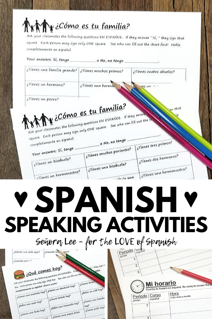Spanish Speaking Activities - Find Someone Who