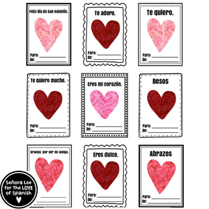 Spanish Valentines Day Cards
