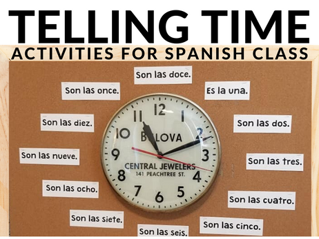 Telling Time in Spanish - Activities for Spanish Class