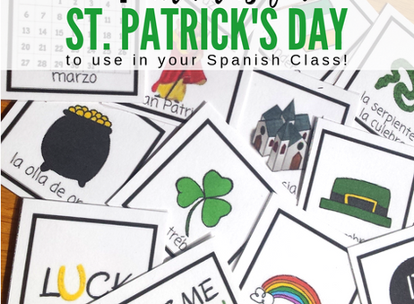 St. Patrick's Day Activities for Spanish Class