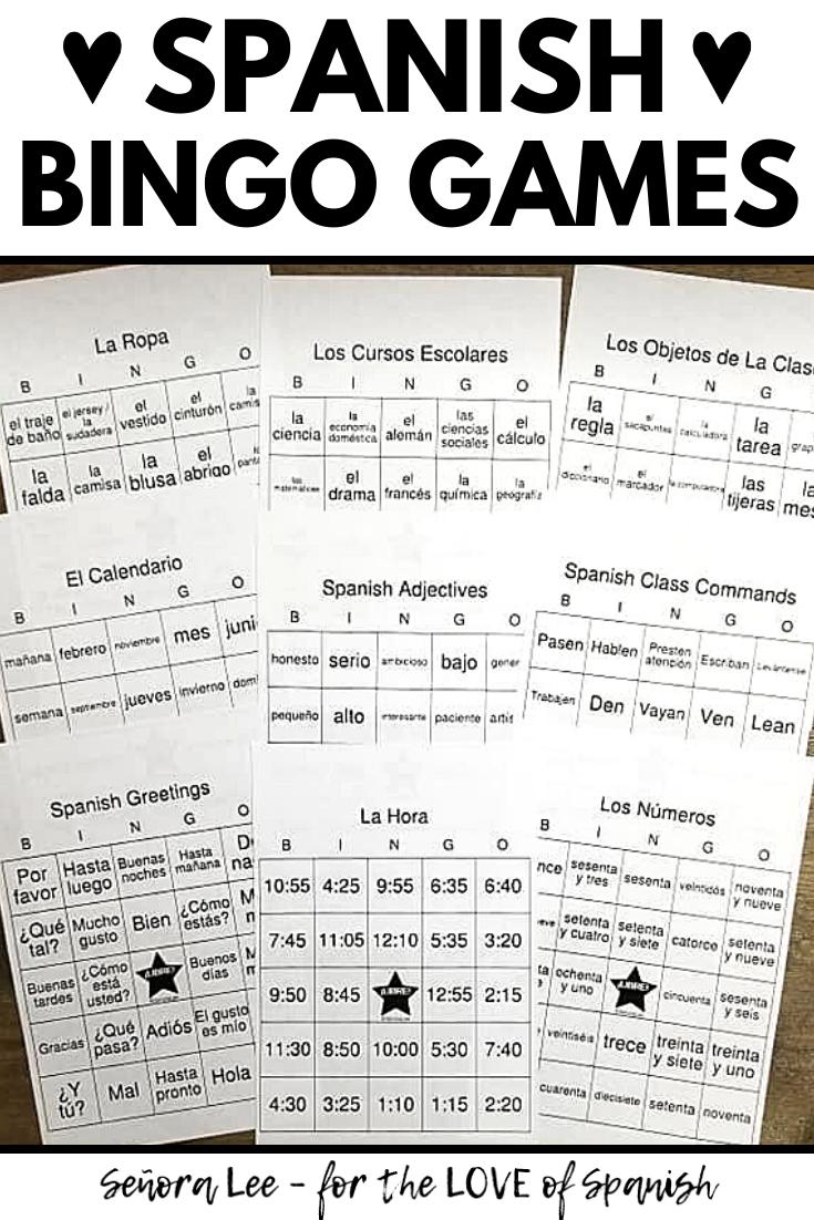 Spanish Bingo Games