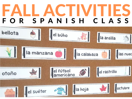 Fall Activities for Spanish Class