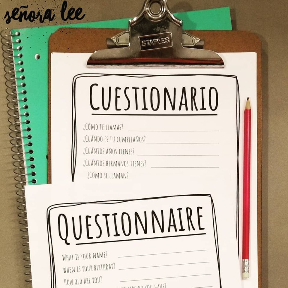 Spanish Questionnaire Activity