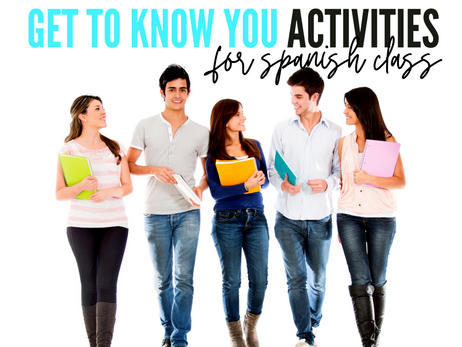 5 Get to Know You Activities for Spanish Class