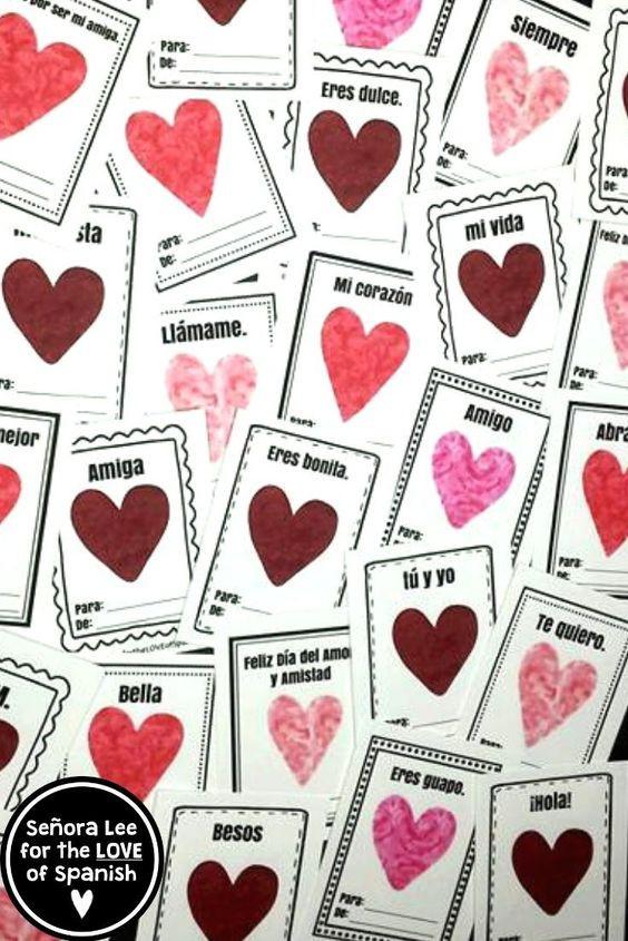 Spanish Valentines Cards