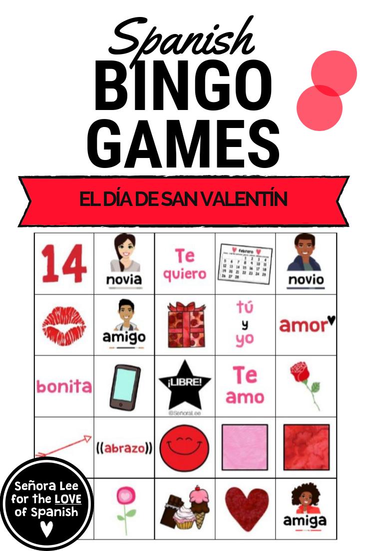 Spanish Valentines Day Bingo