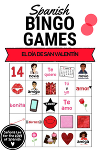 Spanish Valentines Day Bingo
