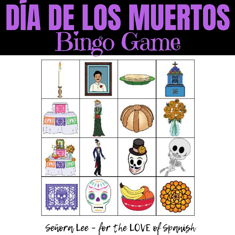 spanish day of the dead bingo