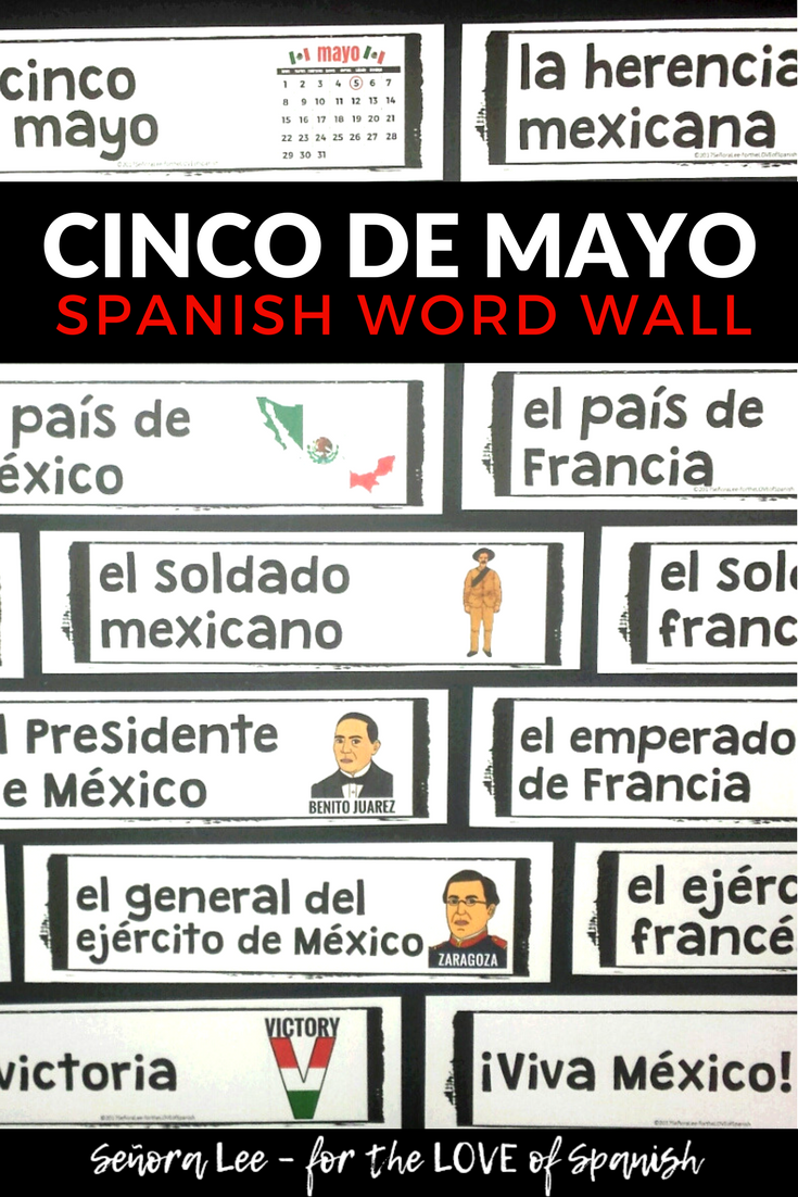 Spanish cinco de mayo word wall