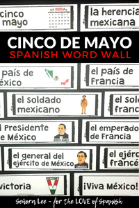 Spanish cinco de mayo word wall