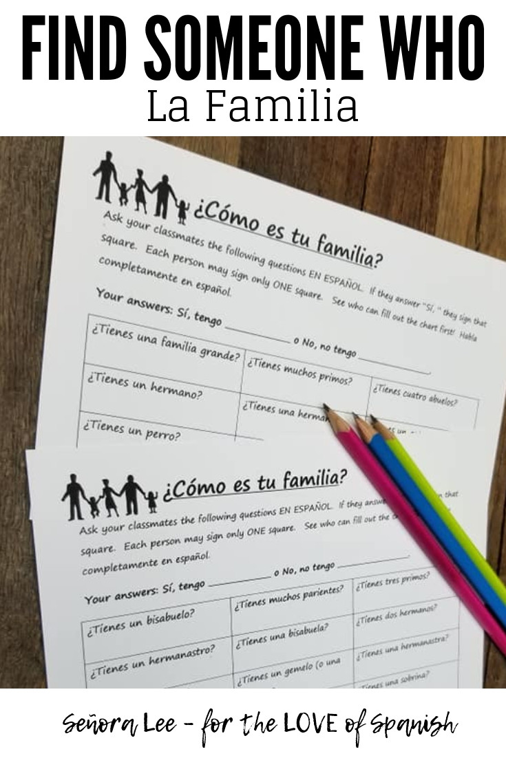 Spanish Find Someone Who Activity