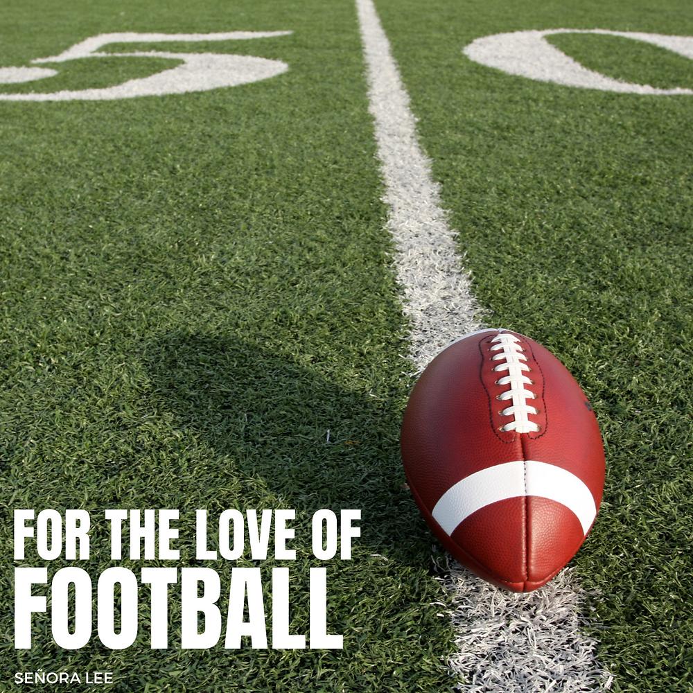a football on the 50 yard line