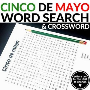 Spanish cinco de mayo word search