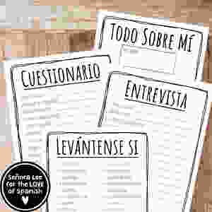 Spanish all about me activities