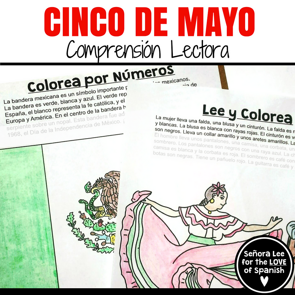 Spanish cinco de mayo color by number