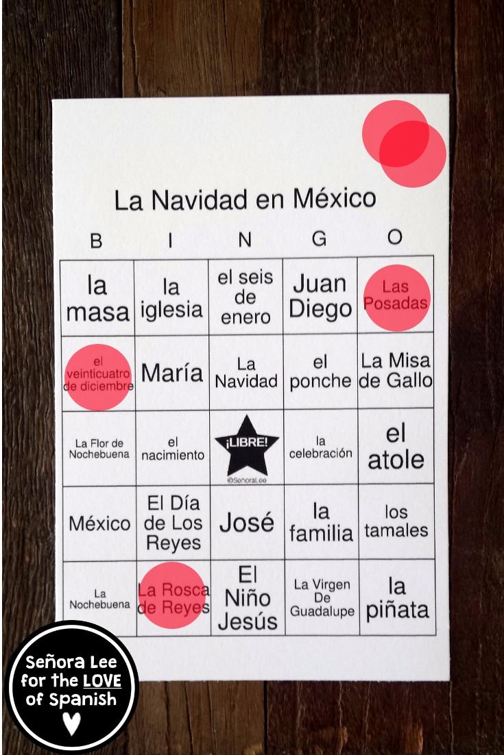 Spanish Christmas Bingo
