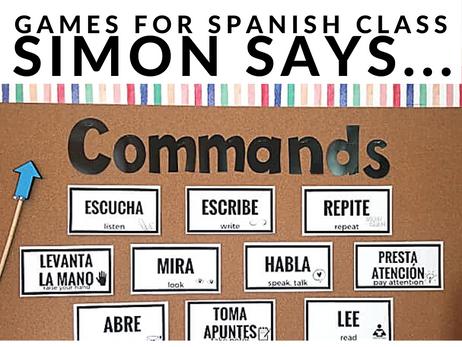 Games for Spanish Class | Simon Says