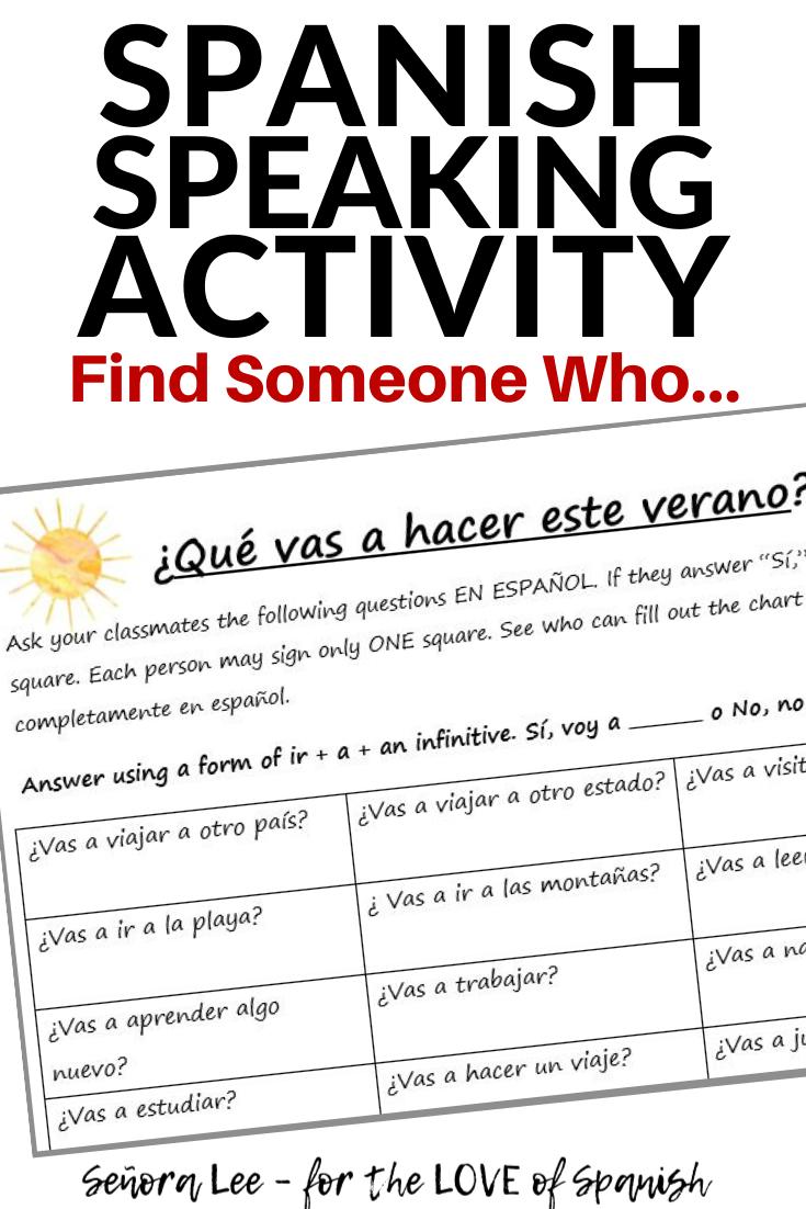 Spanish Summer Activities - Spanish Speaking Activities