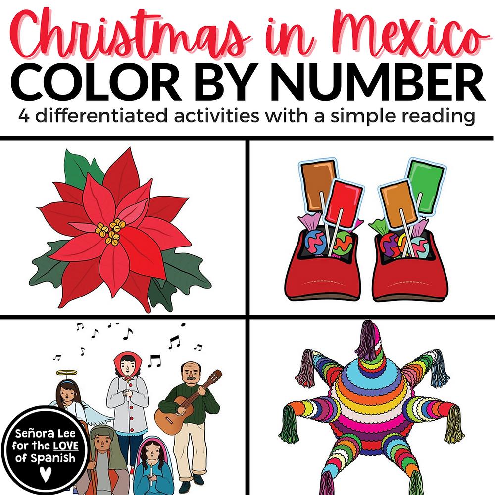 Spanish Las Posadas Color By Number