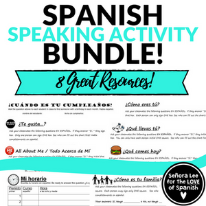 spanish speaking activities, spanish find someone who
